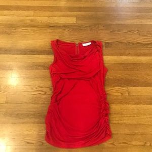 Jessica Simpson Red cowl neck sleeveless shirt